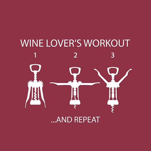 Wine Lovers Workout Paper Cocktail Napkins