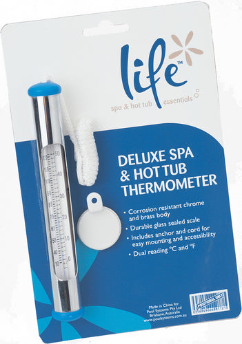 Deluxe Chrome Thermometer