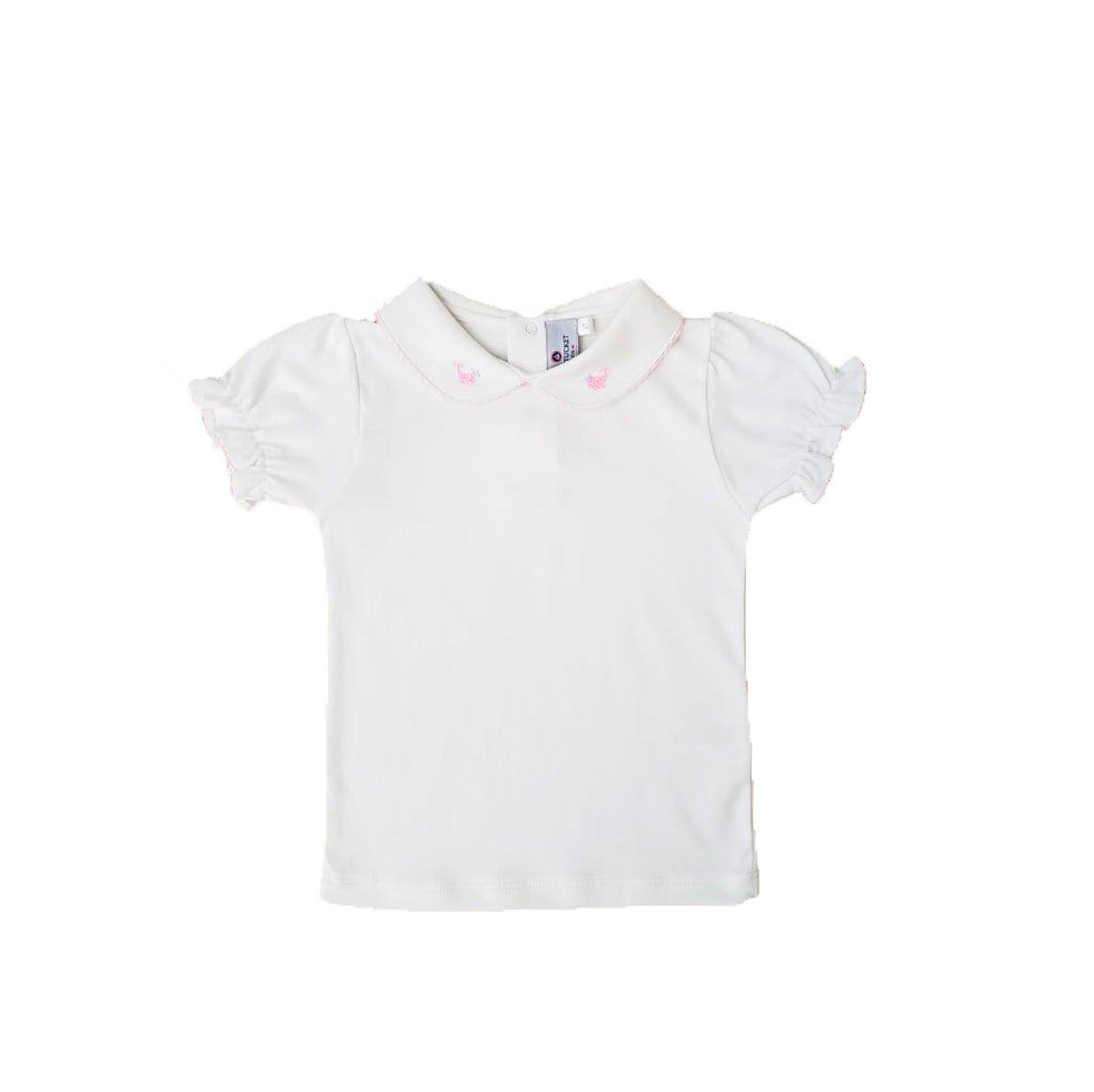 Whale Embroidered Collar Top-Girls