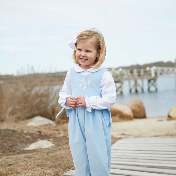 Boardwalk Romper-Baby Blue