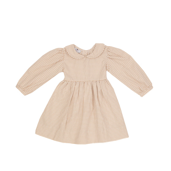 Claire Dress-Sand Gingham