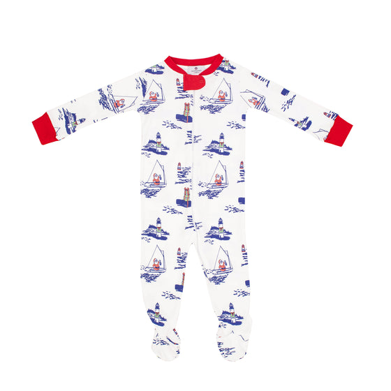 Santa's Coming to Town Pima 1-Piece Footie