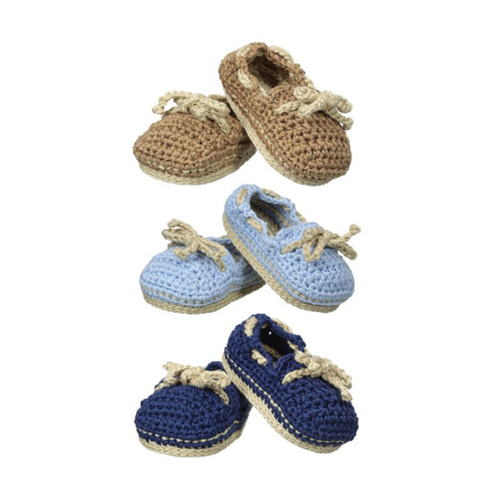 Crochet Boat Shoe Booties
