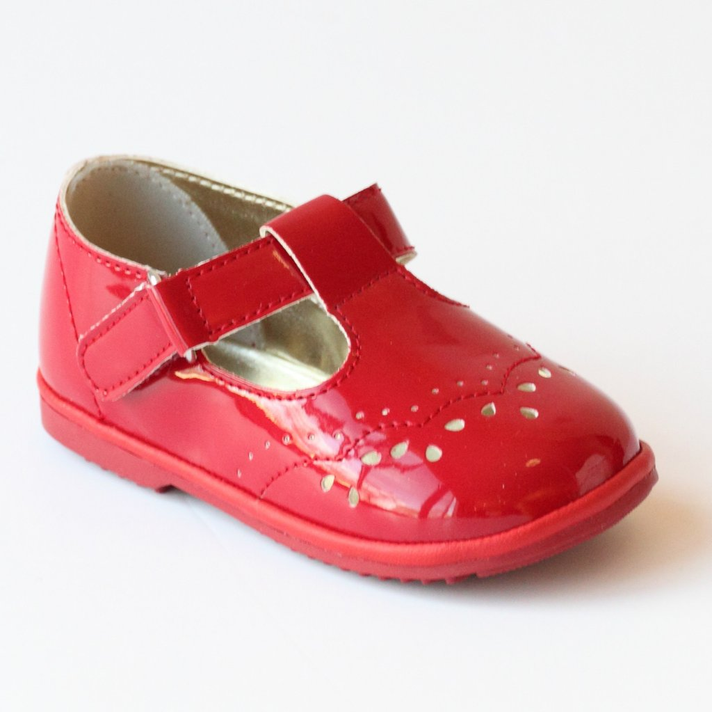 Nantucket Kids Angel Baby Royal Red Patent Leather Mary Jane Shoes