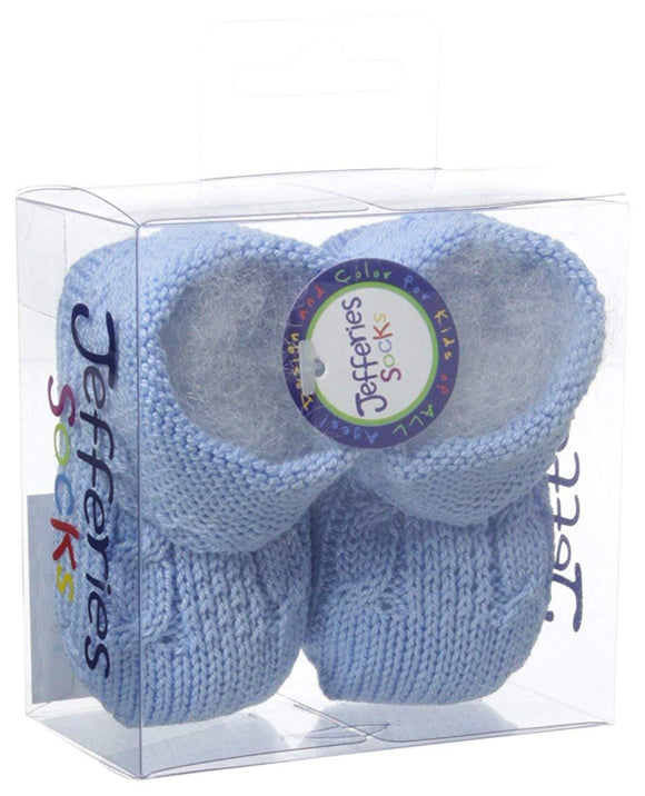 Cableknit Booties-Blue