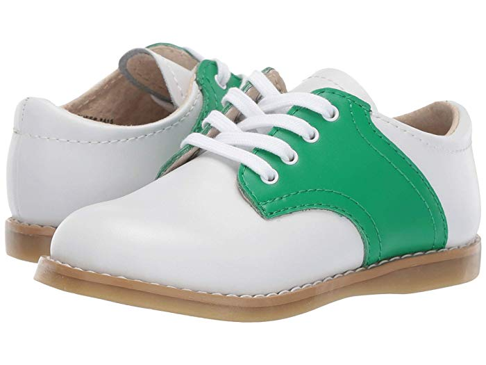 FootMates Cheer Oxford-Classic White & Kelly Green