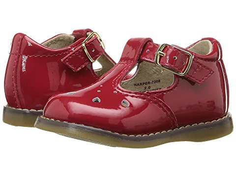 FootMates Harper-Patent Red