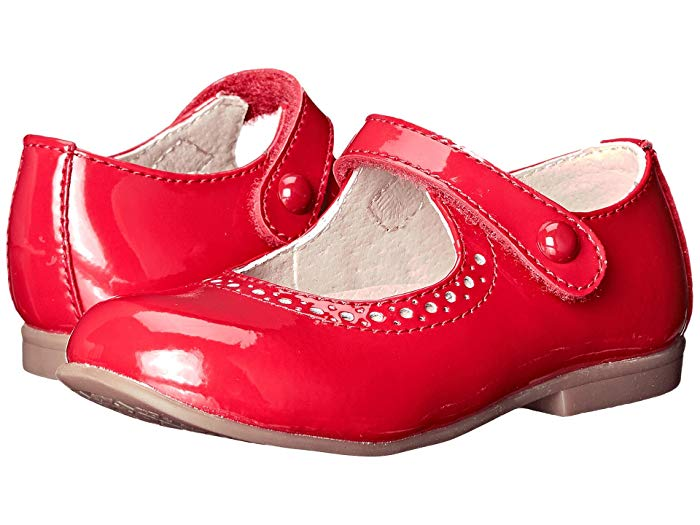 FootMates Emma-Red Patent