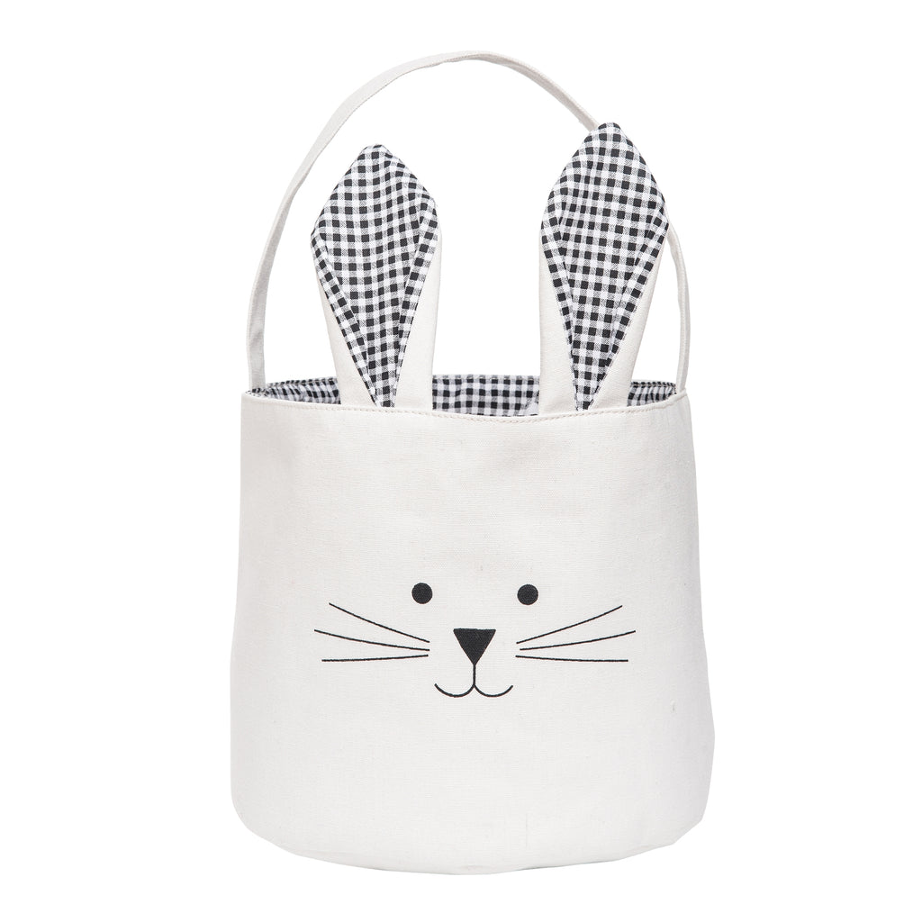 Easter Bunny Basket-Black Gingham
