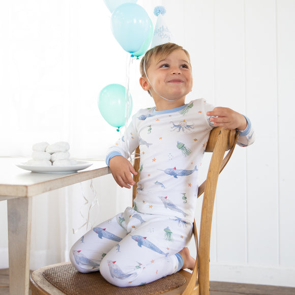 Sea You At The Party Pima Jammies 2-Piece Set