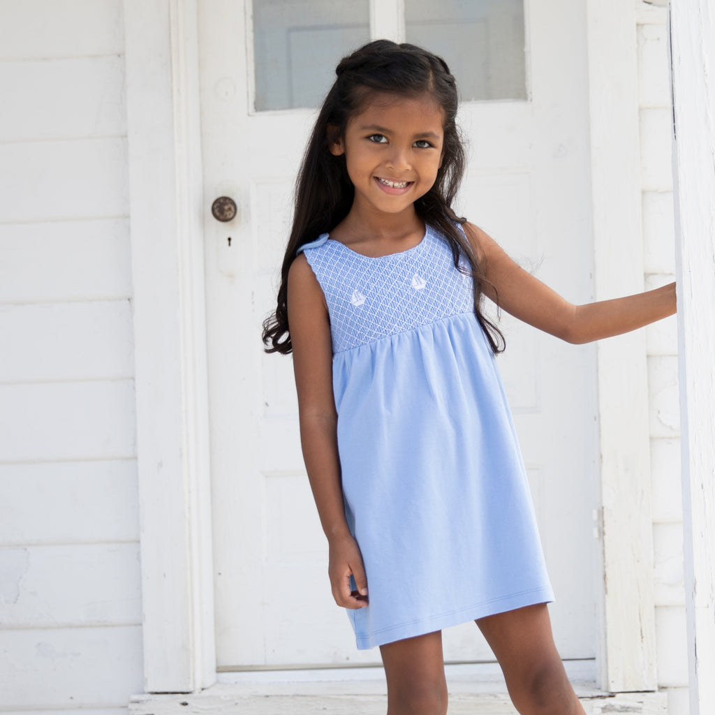 Set Sail Smocked Dress
