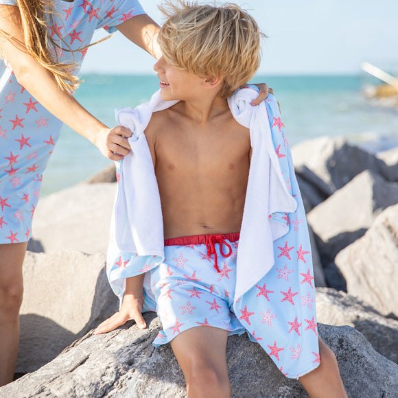 Oversized Hooded Towel-Starfish