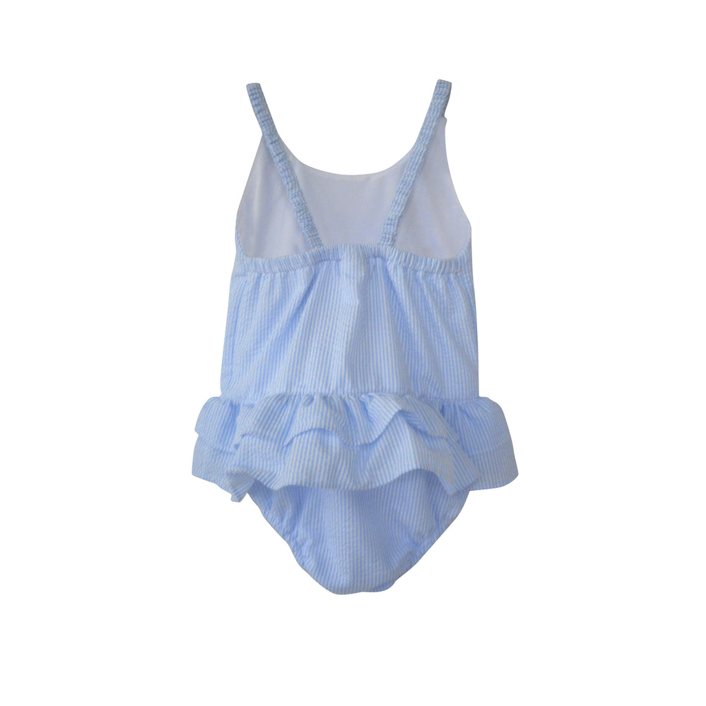 Surfside Swimsuit-Blue Seersucker