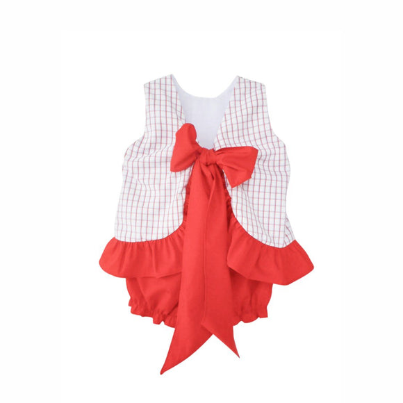 Ava Swing Top and Bloomer Set-Americana Check