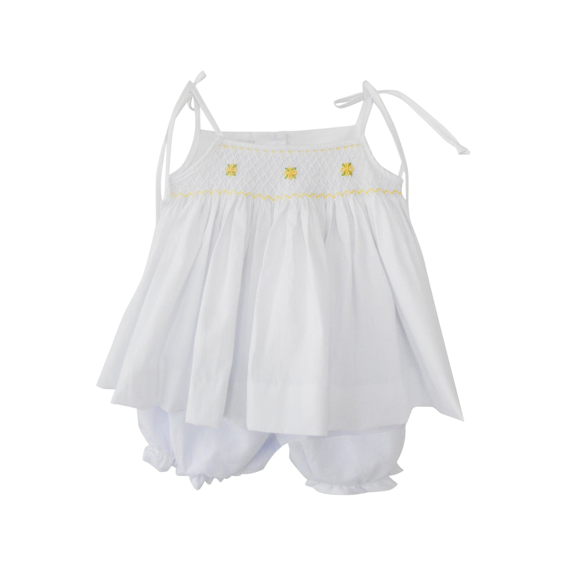 Daffy Smocked Bloomer Set