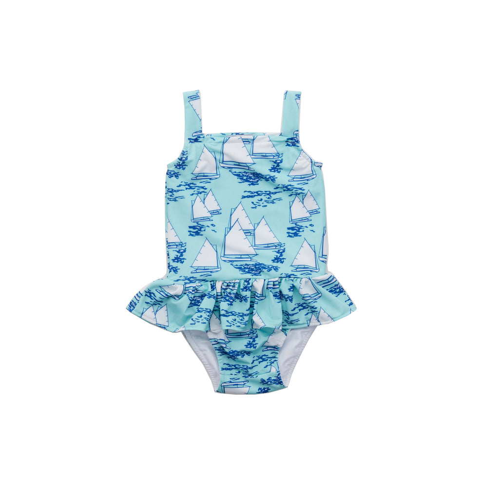 Atlantic Cup Swimsuit-Aqua