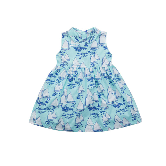 Atlantic Cup Dress-Aqua