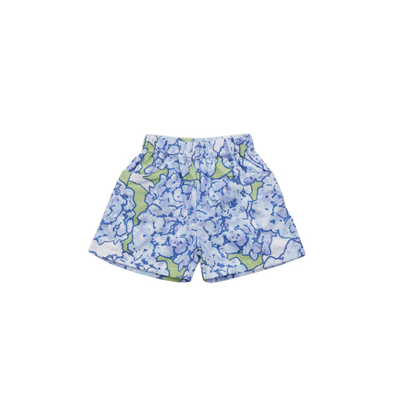 Hydrangeas in Bloom Poplin Play Shorts