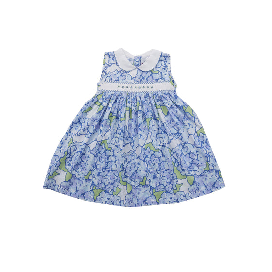 Hydrangeas in Bloom Smocked Dress