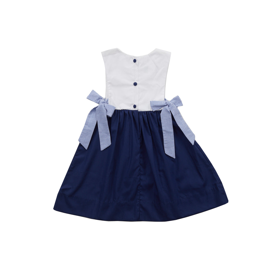 Boardwalk Dress-Nautical Navy