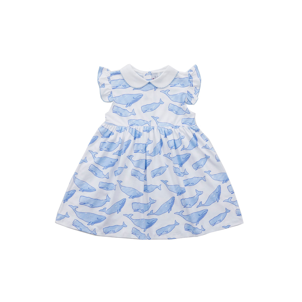 Nellie Dress-Watercolor Whales