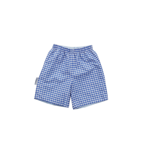 Preston Reversible Shorts-Cobalt Gingham/Blue Seersucker