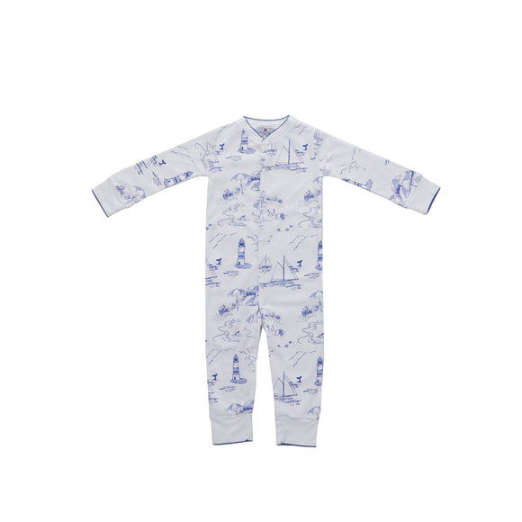 Nantucket Toile Pima 1-Piece