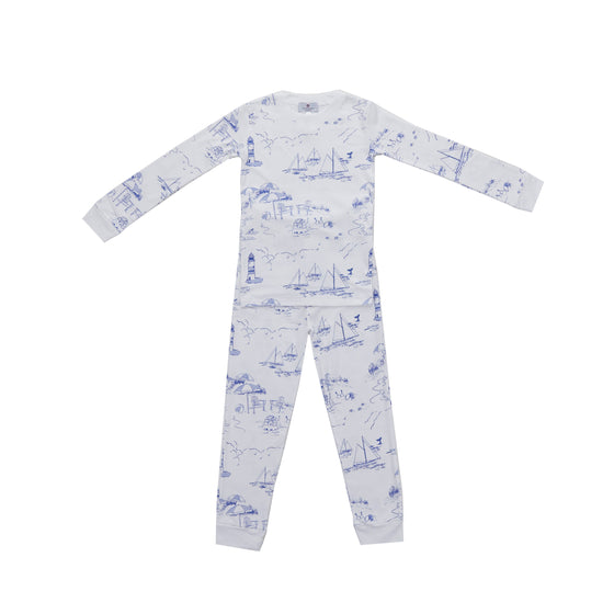 Nantucket Toile Pima Jammies 2-Piece Set