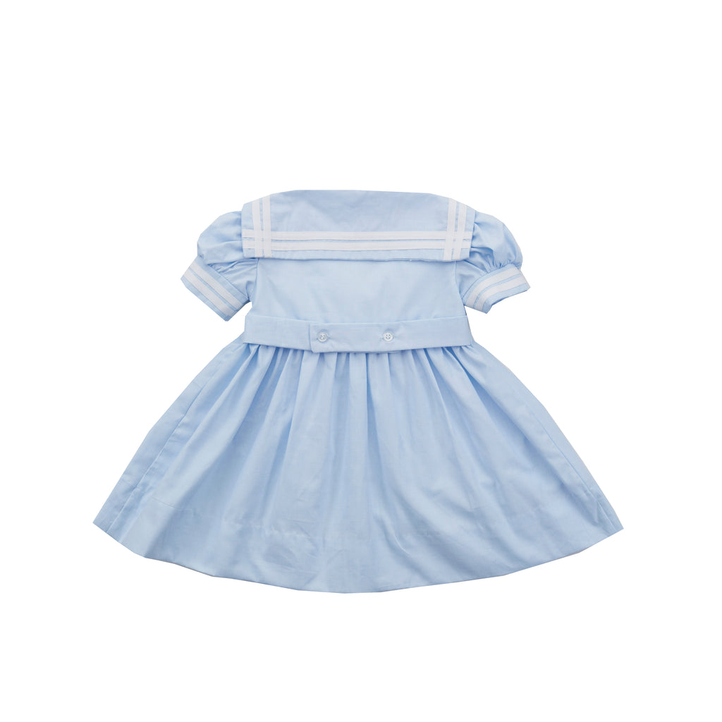 Classic Sailor Dress-Chatham Bars Blue