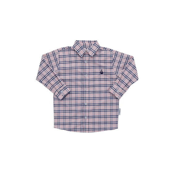 Boy's Button Down Shirt-Nantucket Kids Check