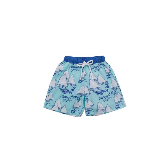 Atlantic Cup Swim Trunks-Aqua