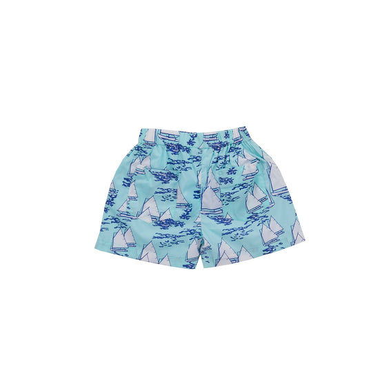 Atlantic Cup Poplin Shorts-Aqua