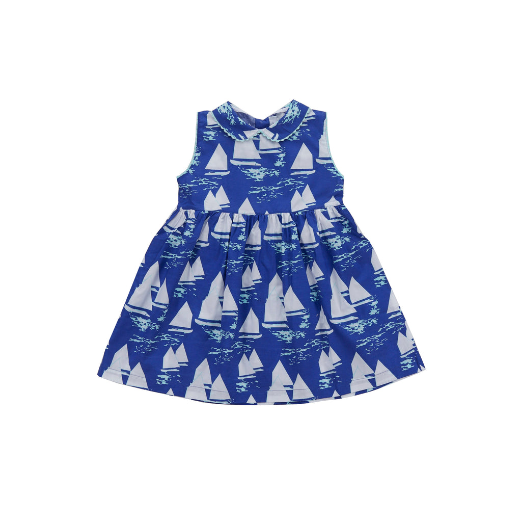 Atlantic Cup Dress-Cobalt
