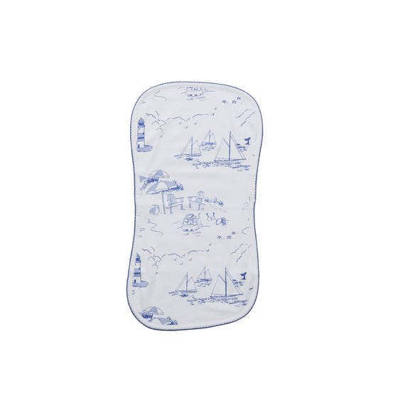 Over The Shoulder Burp Cloth-Nantucket Toile