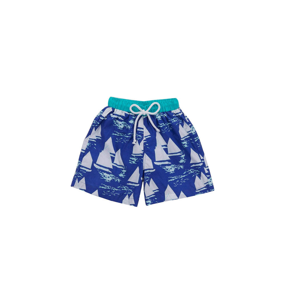 Atlantic Cup Swim Trunks-Cobalt