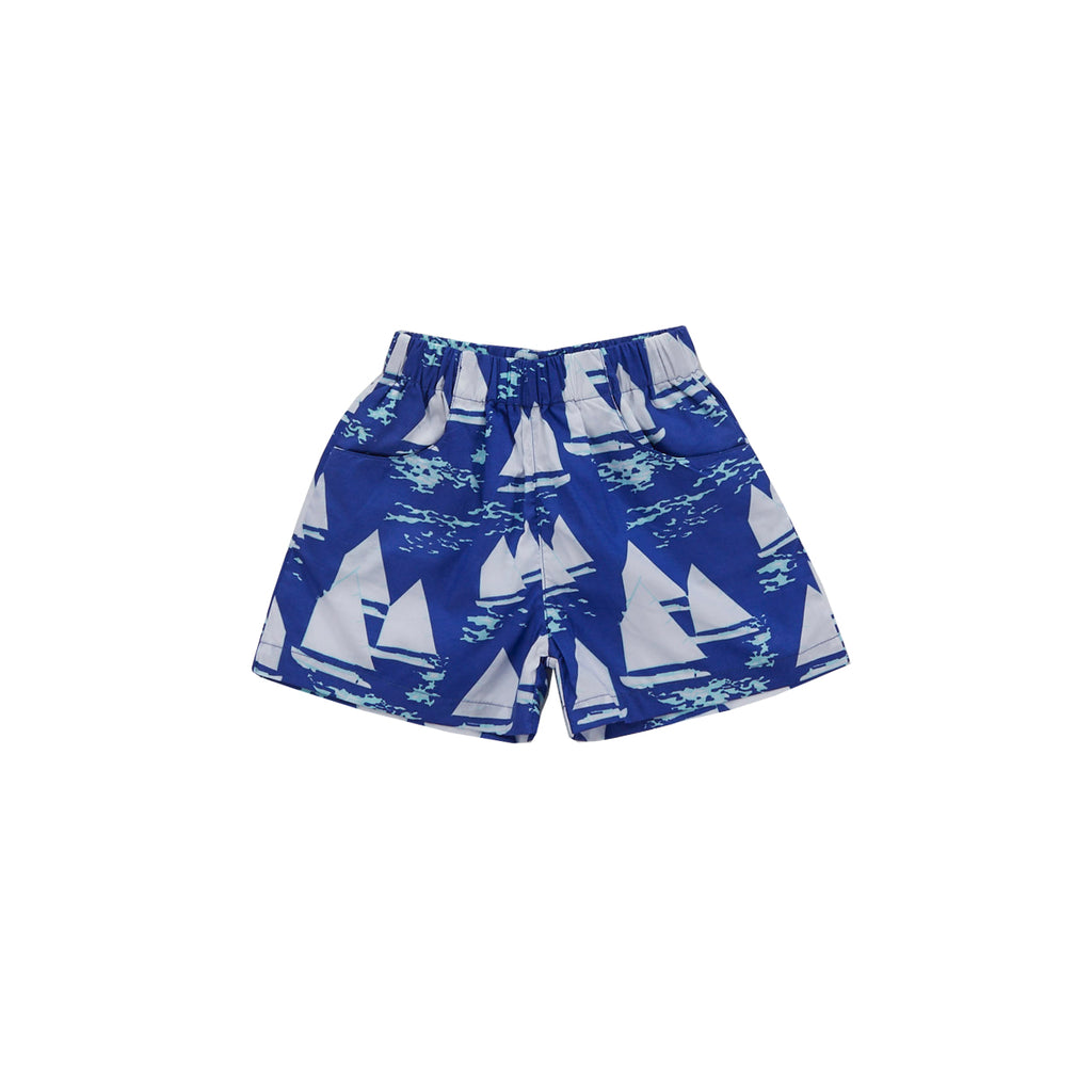 Atlantic Cup Poplin Shorts-Cobalt