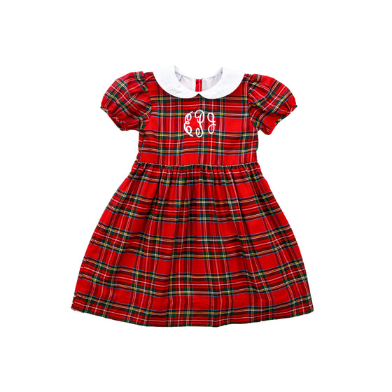Noelle Dress-Royal Tartan