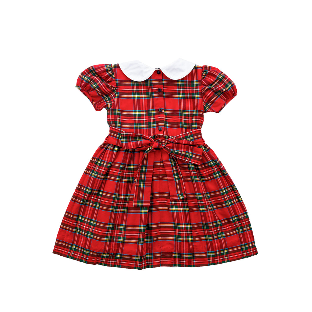 Noelle Dress - Royal Tartan