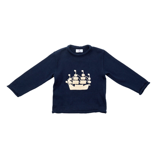Tall Ship Roll Neck Sweater
