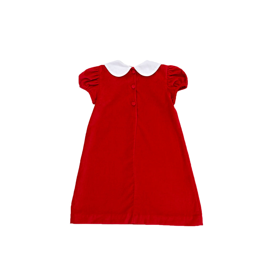 Penny Dress-Royal Red Velveteen