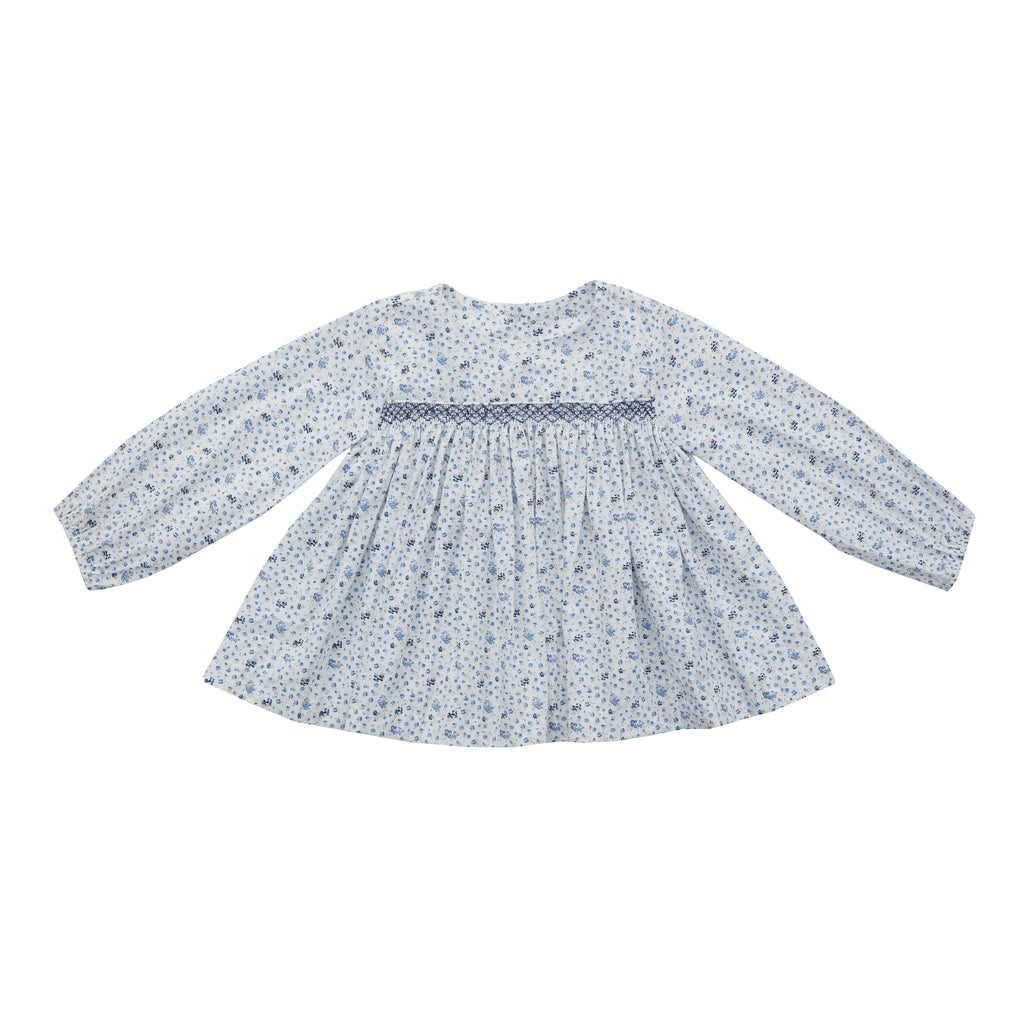 Petit Floral Smocked Top-Blue
