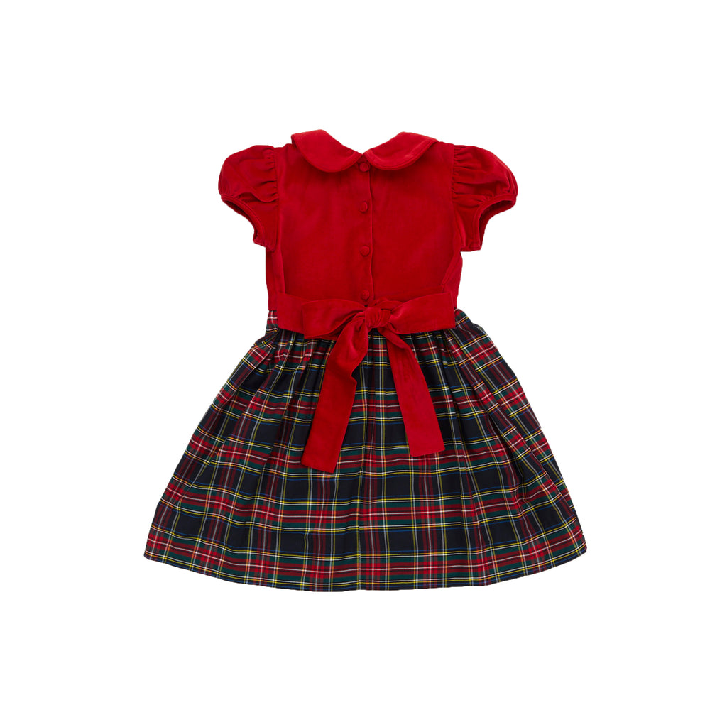 Stewart Tartan and Velveteen Dress