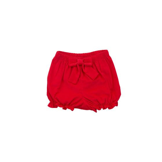 Corduroy Bloomer Shorts-Royal Red