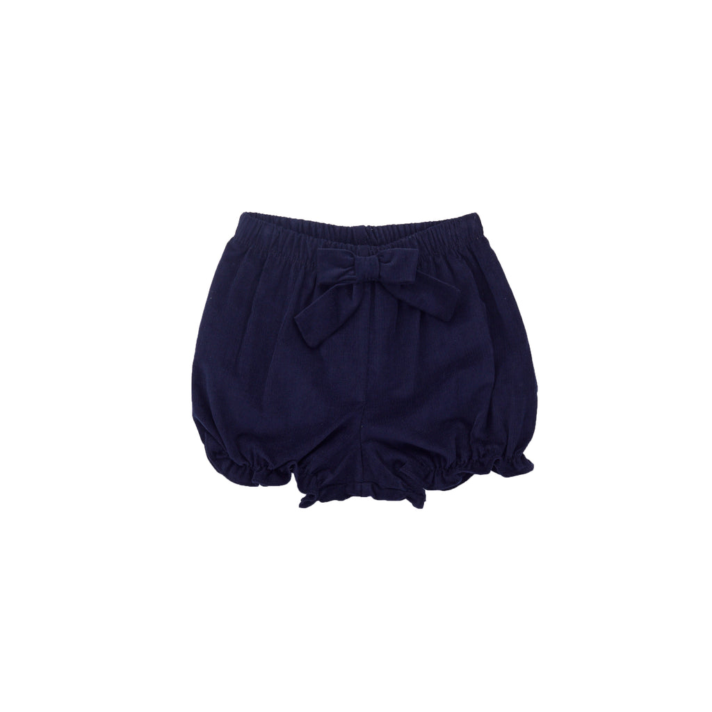 Corduroy Bloomer Shorts-Nautical Navy