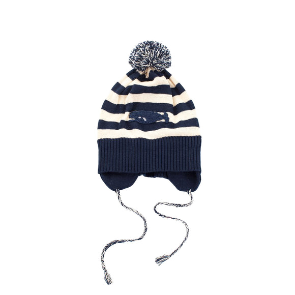 Whale Watch Pima Pom Pom Hat
