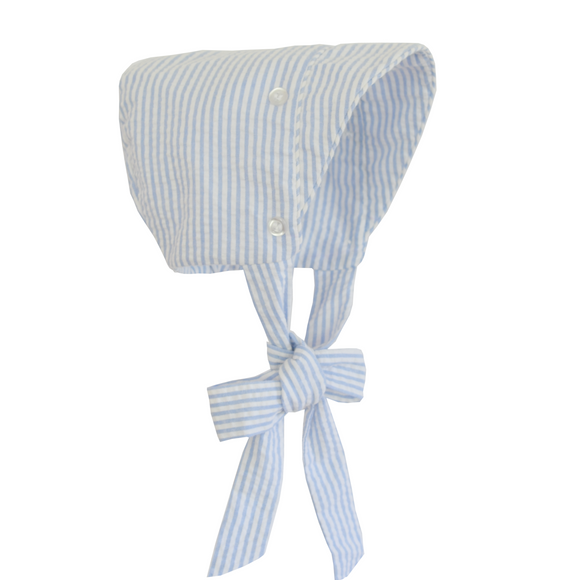 Nantucket Kids Boys Bonnet Blue Seersucker