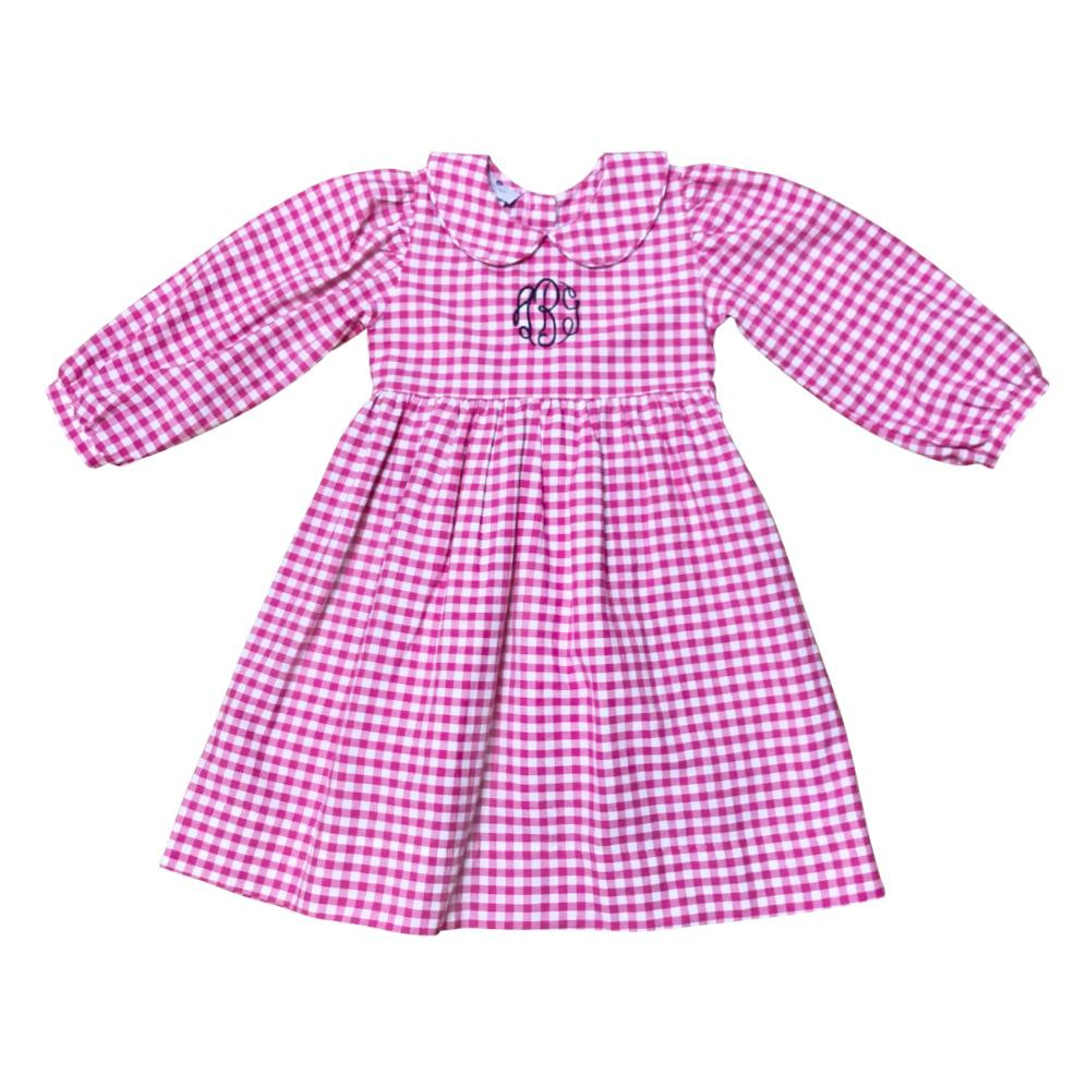 Claire Dress-Fuchsia Gingham