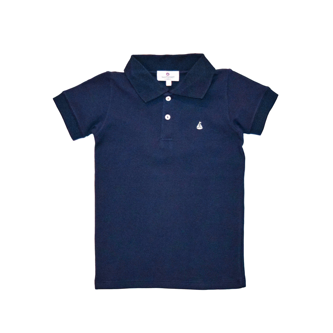 Set Sail Pique Polo-Nautical Navy
