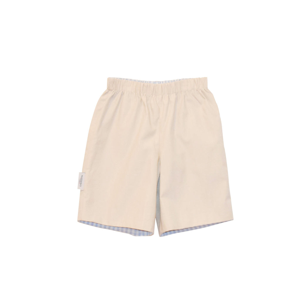 Preston Reversible Shorts-Classic Khaki/Gingham