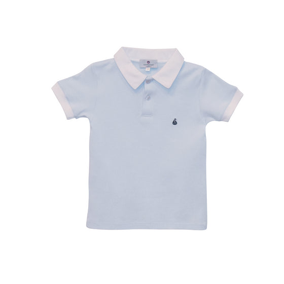 Set Sail Pima Polo-Baby Blue